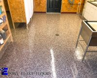 Epoxy Flake Floors in an Animal Clinic